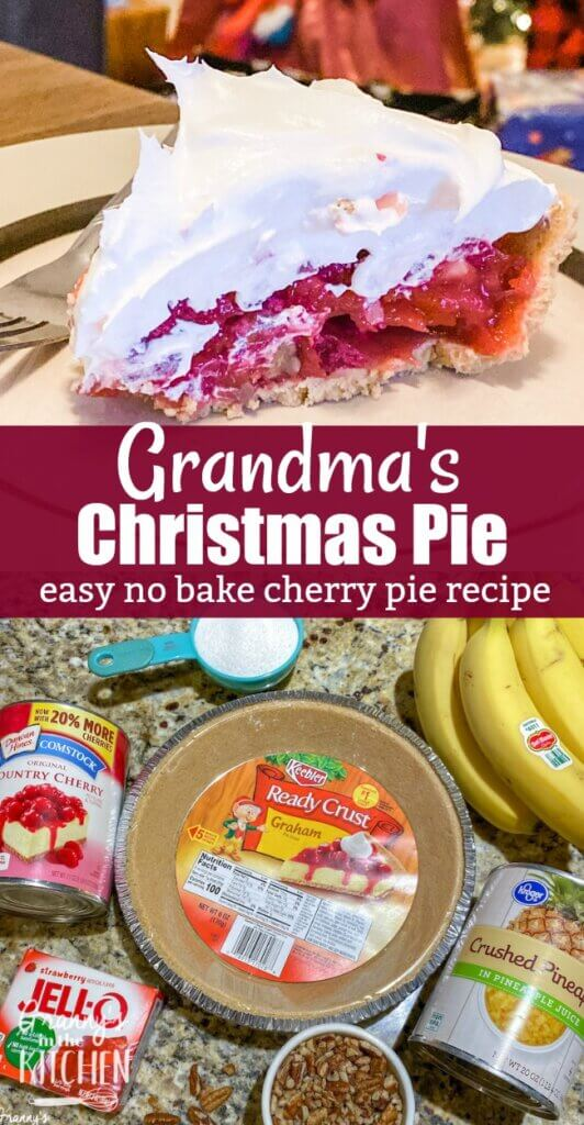 This vibrant Christmas cherry pie is not only bright and festive, it's totally delicious! Anyone can make this easy holiday pie recipe because it's made with simple ingredients and there's no baking involved! It's guaranteed to become a family favorite!