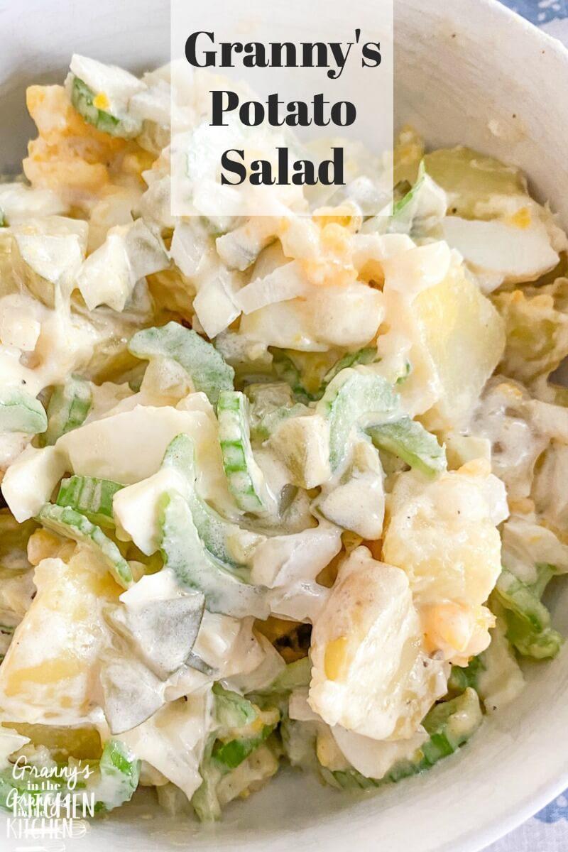 homemade potato salad with celery