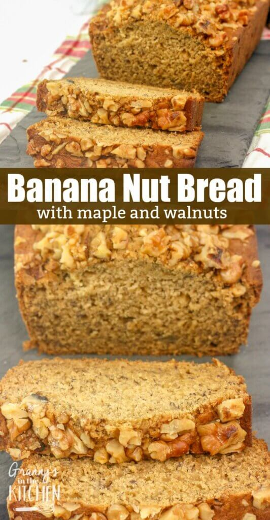 A classic, with a twist! This maple banana nut bread is a soft, moist banana bread recipe made with walnuts and real maple syrup. It might even be better than the original!
