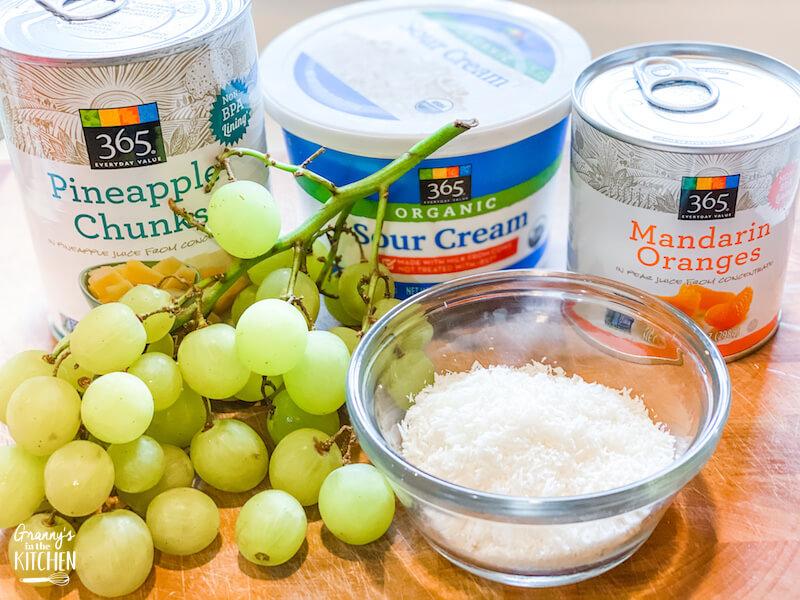 Hawaiian fruit salad ingredients