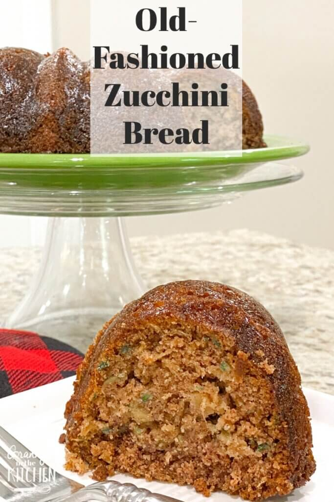 slice of zucchini bundt cake on plate