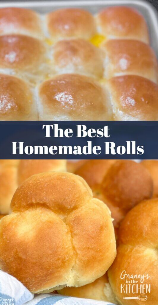 homemade rolls in pan and in basket