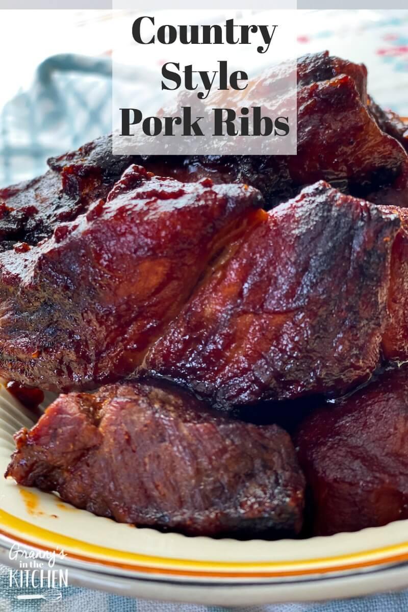 boneless barbecue pork ribs on plate