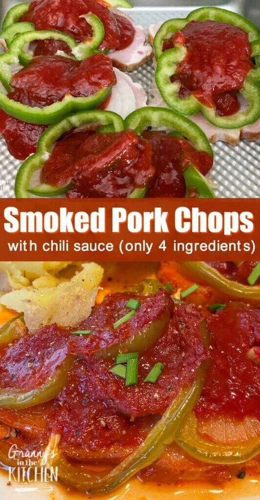 smoked pork chops smothered in chili sauce