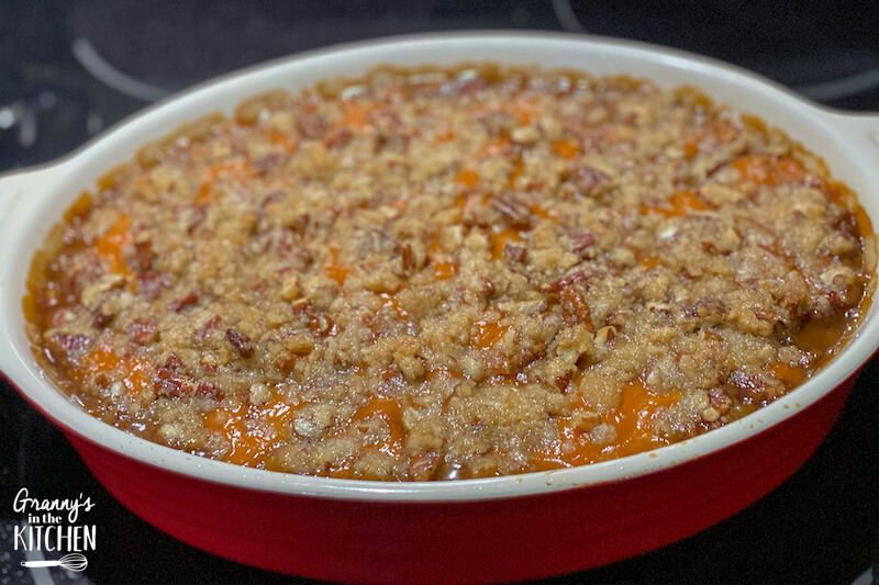 sweet potato casserole ready to bake