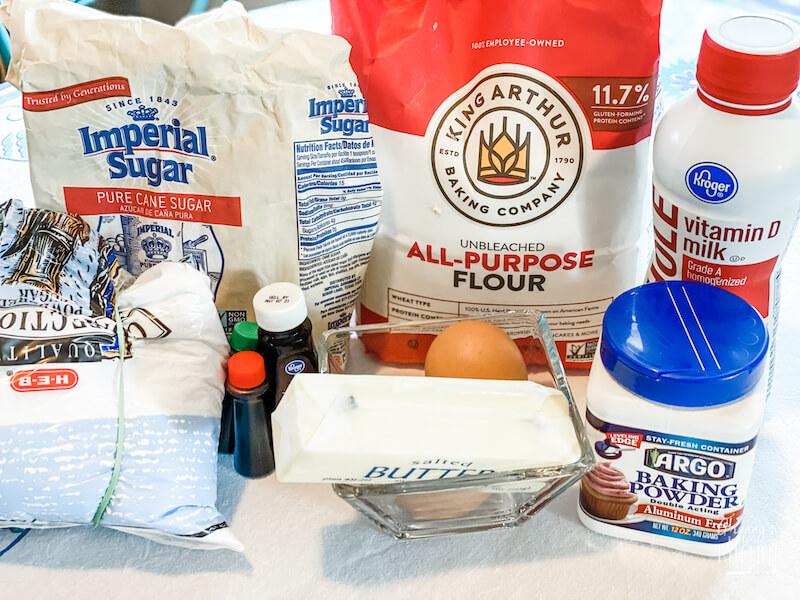ingredients to make Sweeties cookies