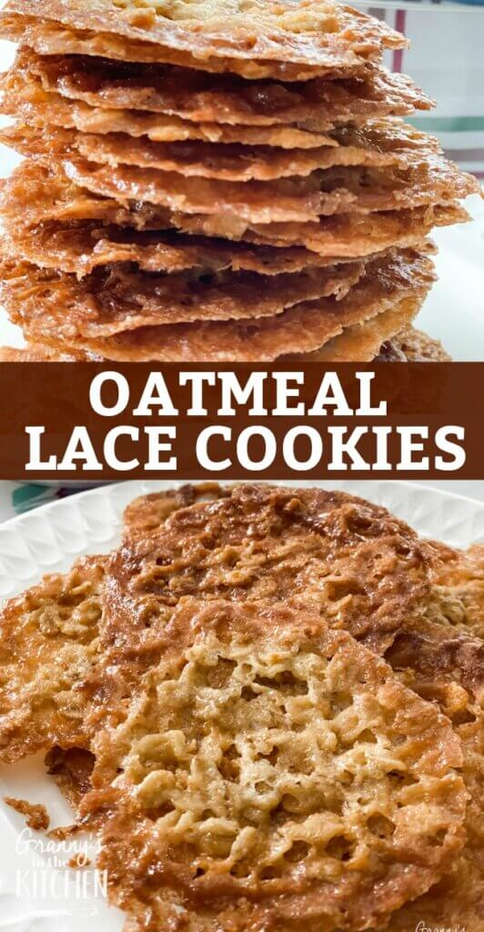 Crispy, buttery, and as rich as toffee, Oatmeal Lace Cookies are a melt-in-your-mouth treat!