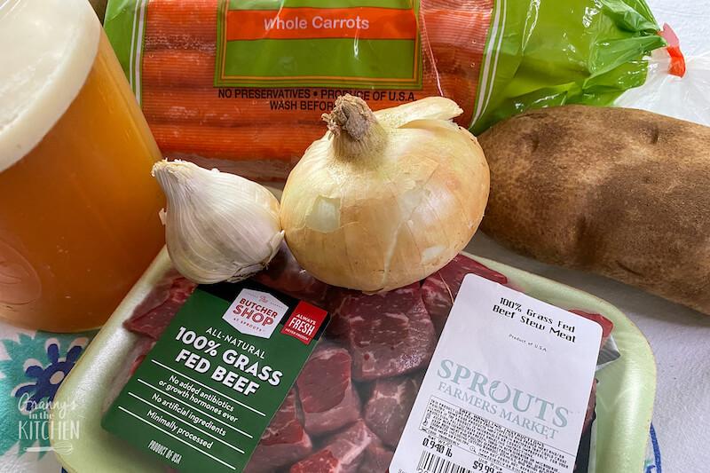 ingredients to make beef stew
