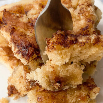 coffee cake with cinnamon streusel topping